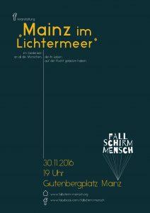 Plakat Mainz im Lichtermeer